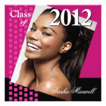 Bold Fresh Class of 2012 Grad Photo Party Custom Announcement