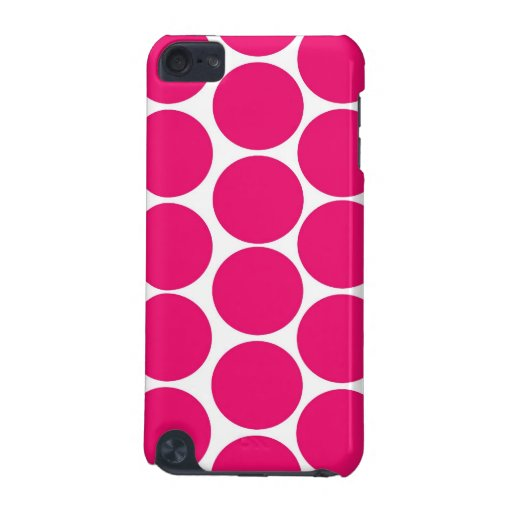 BOLD FUCHSIA PINK POLKA DOTS PATTERN iPod TOUCH (5TH GENERATION) COVER
