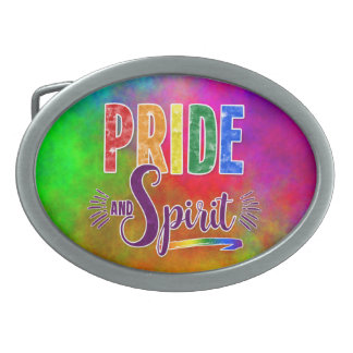 Bold Gay Pride and Spirit Rainbow Belt Buckle