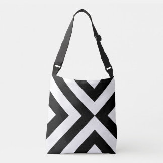 Bold Geometric Black and White Chevrons Tote Bag