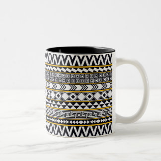 Bold Geometric Pattern Two-Tone Coffee Mug