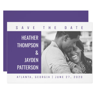 Bold Geometric Photo Save the Date | Ultra Violet Card