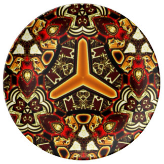 Bold Geometric Tribal abstract porcelain plate