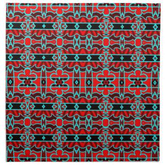 Bold geometric tribal designer luxury napkins