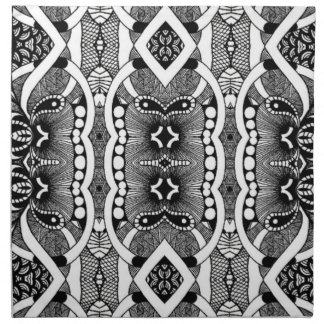 Bold Geometric Tribal Luxury Designer Napkins