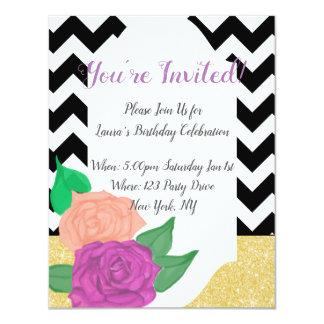 Bold Girly Birthday Invitation