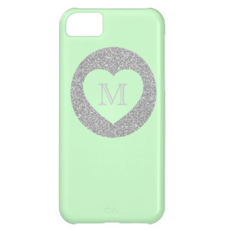 Bold Glitter Gold Dot With Heart Custom Color iPhone 5C Case