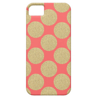 Bold Glitter Gold Dots with custom background iPhone 5 Case