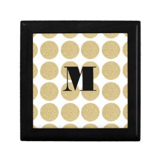Bold Glitter Gold Polka Dots Gift Boxes