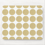 Bold Glitter Gold Polka Dots Mousemats