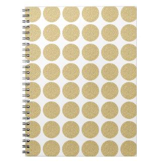 Bold Glitter Gold Polka Dots Notebooks