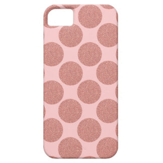 Bold Glitter Rose Gold Dots with custom background iPhone 5 Case