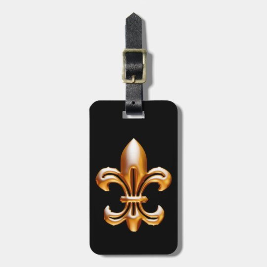 Bold Gold Fleur de Lis Luggage Tag