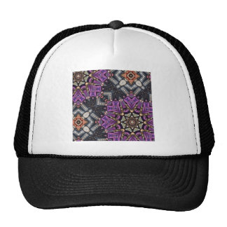 bold gold purple bling abstract pattern glamorous hat