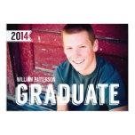 Bold Grad Guy Photo Graduation Party Invitation