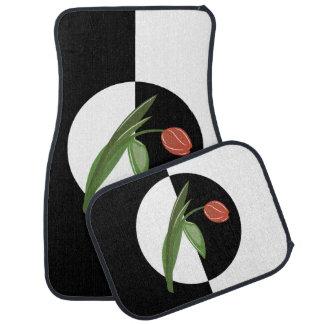 Bold Graphic Tulip Floor Mat