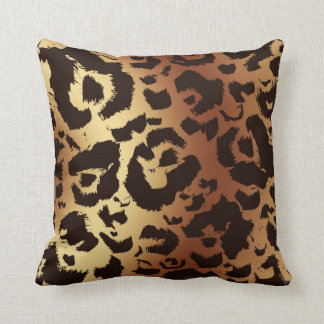 Bold Graphic Wild Cat Print Gradient Background Cushion