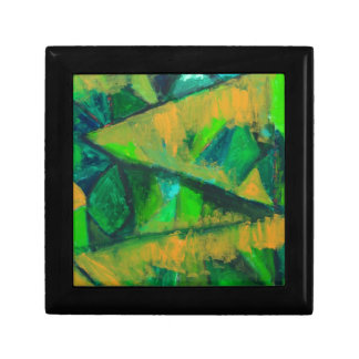 Bold Green Leaves abstract natural pattern Gift Box