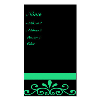 Bold Green Pack Of Standard Business Cards