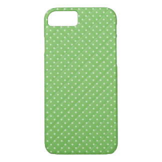 bold green with white polka dot quilt design iPhone 8/7 case