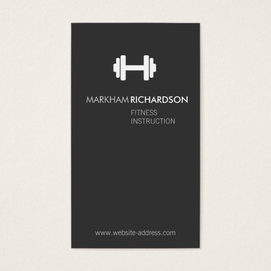 Bold Grey/White Personal Trainer Business Card