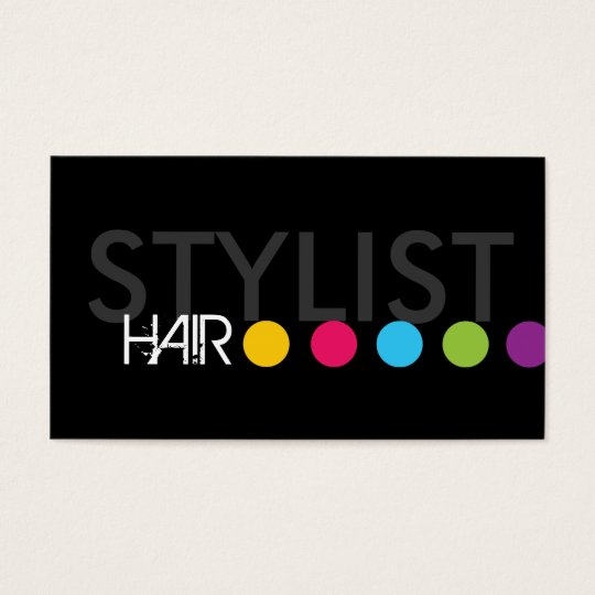 Bold Hair Stylist Business Card