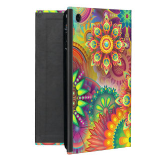 Bold Happy Floral Abstract Case With Stand Cover For iPad Mini