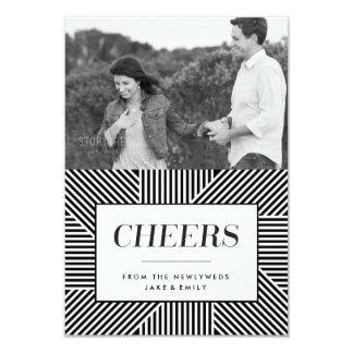 Bold Holiday Engagement, Newlywed card 9 Cm X 13 Cm Invitation Card
