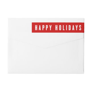 Bold Holiday | Holiday Return Address Labels