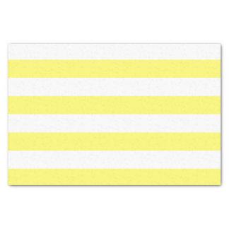 Bold Horizontal Banana Yellow and White Stripes Tissue Paper
