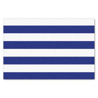 Bold Horizontal Navy and White Stripes Tissue Paper