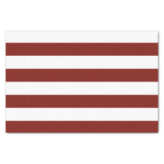 Bold Horizontal Red and White Stripes Tissue Paper