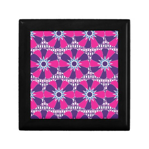 Bold Hot Pink and Purple Floral Pattern Gift Boxes
