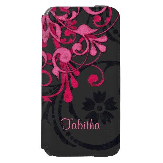 Bold Hot Pink Black Elegant Floral Incipio Watson™