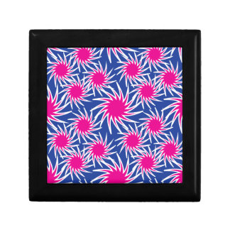Bold Hot Pink Blue Spiraling Wheels Funky Pattern Gift Box