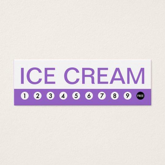 bold ICE CREAM customer loyalty Mini Business Card
