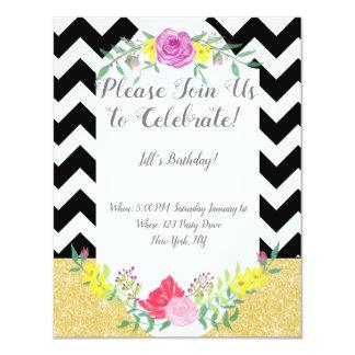 Bold Lady Birthday Invitation