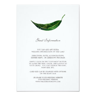 Bold Leaves Guest Information Card / Dark Green