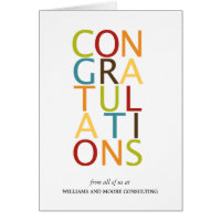 Bold Letters Congratulation Cards