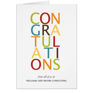 Bold Letters Congratulation Cards Cards
