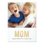 Bold Letters mother's day Photo Card 13 Cm X 18 Cm Invitation Card