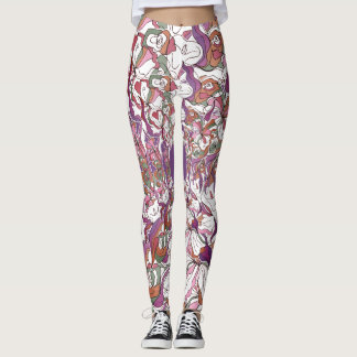 Bold Lillies Floral Leggings