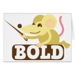 Bold little mouse card