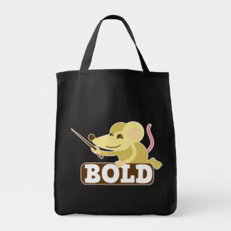 Bold little mouse grocery tote bag