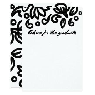 Bold Lotus Floral Advice Graduate Design Card
