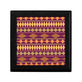 Bold Magenta Rust Tribal Geometric Pattern Gift Boxes