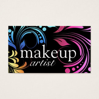 Bold Makeup Artist Business Cards