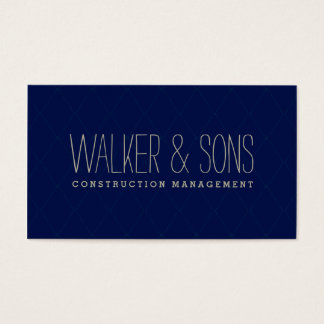 BOLD MASCULINE CARD simple plain smart navy blue