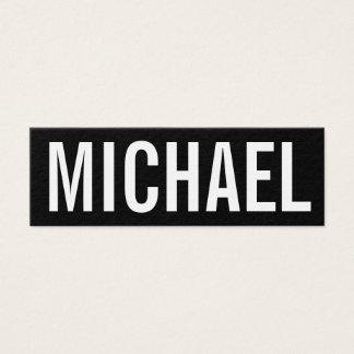 Bold minimalist professional modern business card