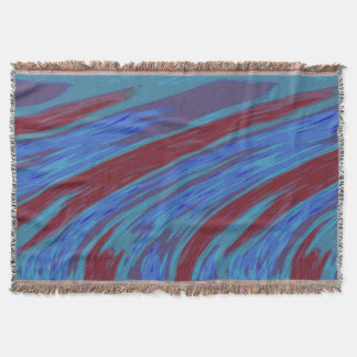 Bold Modern Abstract Blue Red